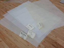 和紙のサンプル