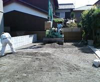 基礎の掘り方開始