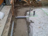 排水の配管