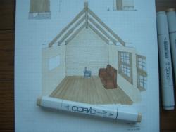 ログハウス内装イメージ